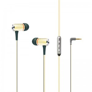 HF MP3 AWEI S2vi Gold + mic + button call answering + volume control
