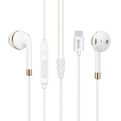 Наушники Hoco L8 Type-C/Bluetooth White + mic + button call answering + volume control