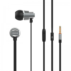 HF MP3 Celebrat C8 Black + mic + button call answering