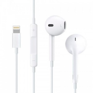 HF Hoco L7 Plus Lightning White + mic + button call answering + volume control