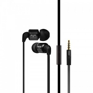 HF MP3 AWEI ES600i Black + mic + button call answering