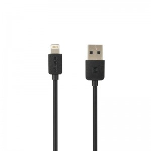 USB Cable Remax (OR) Light Speed RC-006i iPhone 5 Black 1m (5-025)