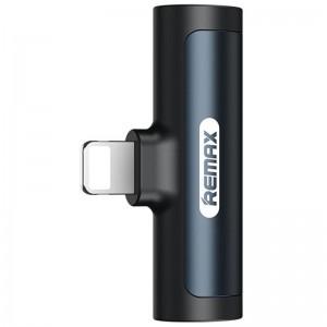 Adapter Remax RL-LA03 Lightning Male to 3.5mm+Lightning Female Black