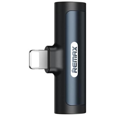 Аудиоадаптер Remax RL-LA03 Lightning Male to 3.5mm+Lightning Female Black
