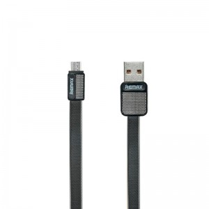 USB Cable Remax (OR) Platinum RC-044m microUSB Black 1m