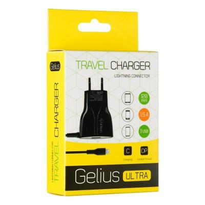СЗУ Gelius Ultra Edition USB + iPhone 5 1,5A Black 1.2m